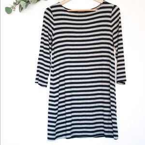 BOUTIQUE STRIPED LONG SLEEVE T SHIRT DRESS
